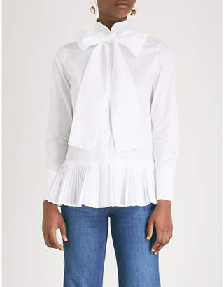 Osman Effy ruffled cotton shirt