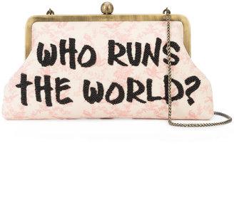 Sarah's Bag Who Runs The World clutch
