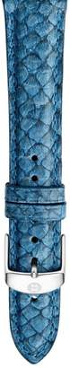 Michele 16mm Seamist Blue Fish Skin Watch Strap