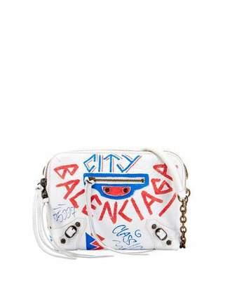 Balenciaga Graffiti Classic Reporter XS Crossbody Bag