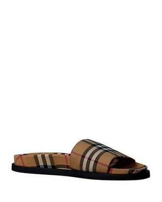 aefde8fcd16 Burberry Men s Ashmore Check Slide Sandal