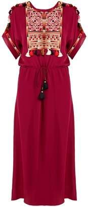 Figue Naya embroidered silk-georgette dress