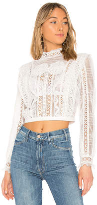 For Love & Lemons Victorian Tulle Blouse