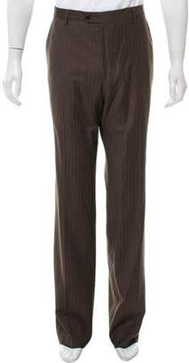 Paul Smith Pinstriped Wool Blend Pants
