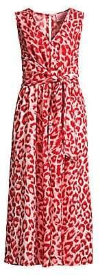 Kate Spade Women's Panthera Tie-Waist Animal-Print Jumpsuit
