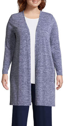Liz Claiborne STUDIO  Long Easy Cardigan- Plus