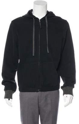 Prada Sport Woven Zip-Up Hoodie
