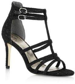 Adrianna Papell Adara Strappy Floral Lace Heels