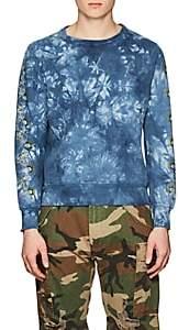 Remi Relief Men's Skull-Graphic Tie-Dyed Cotton Sweatshirt-Dk. Blue