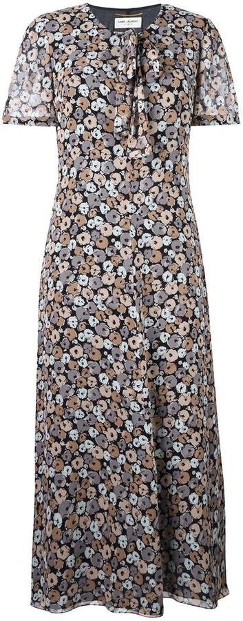 Saint LaurentSaint Laurent floral print dress
