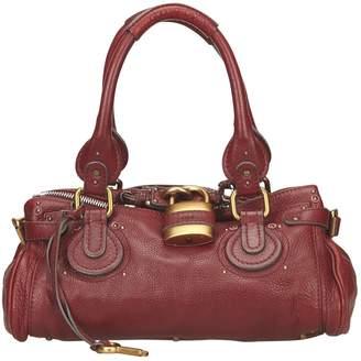 Chloé Paddington Burgundy Leather Handbag