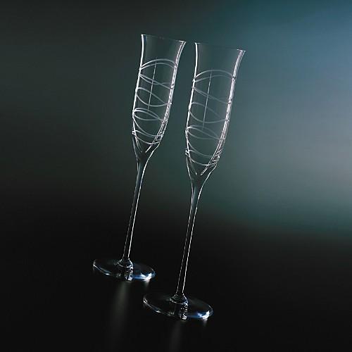 Morph Champagne Flutes by Nambé