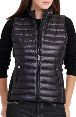 Women's Lauren Ralph Lauren Knit Panel Down Vest $140 thestylecure.com