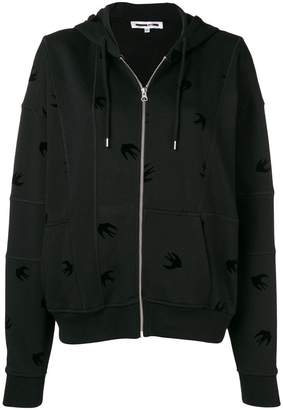 McQ swallow embroidered hoodie