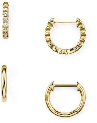 Nadri Huggie Hoop Earrings, Set of Two