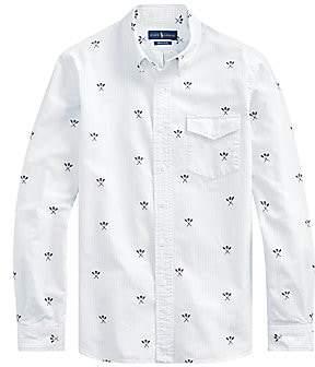 Polo Ralph Lauren Men's Skulls Oxford Button Front Shirt