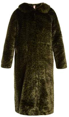 SHRIMPS Patrick leopard-print faux-fur coat