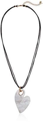 Robert Lee Morris Womens Moonrise Mother of Pearl Heart Pendant Necklace