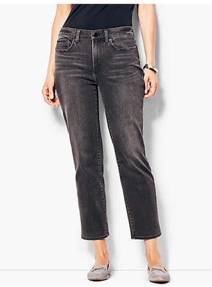 Talbots High-Rise Easy Straight Crop Jeans - Mystic