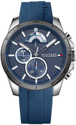 Tommy Hilfiger Navy Sport Watch With Silicone Strap