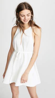 Le Kasha Rosetta Tie Waist Dress