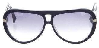 Alexander McQueen Gradient Aviator Sunglasses
