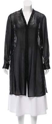Akris Striped Long Coat w/ Tags