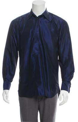 Valentino Silk French Cuff Button-Up Shirt