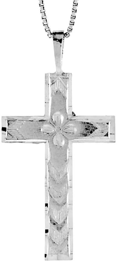 Sabrina Silver Sterling Silver Cross Pendant, 1 3/8 inch