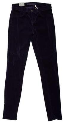 J Brand Low-Rise Velvet Pants w/ Tags