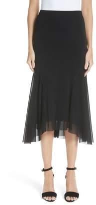 Fuzzi Curve Hem Tulle Skirt (Nordstrom Exclusive)