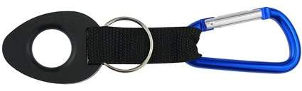 Se OD-WBH72BL Bottle Holder with Blue Carabineer & Split Key Ring, Overall including Blue Holder Carabineer length carabiner ODWBH72BL with 2 Bottle Ring 6.., By SE Ship from US