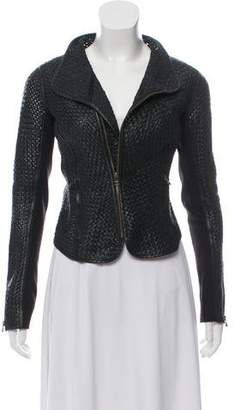 Improvd Leather Woven Jacket