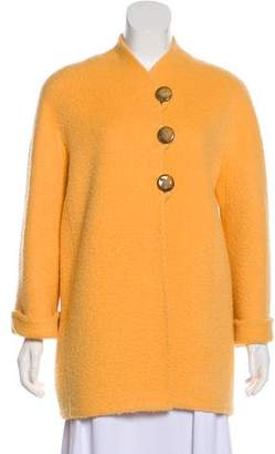 Oscar de la Renta Short Knit Coat