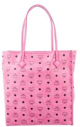 MCM Visetos Medium Shopper Tote Pink Visetos Medium Shopper Tote