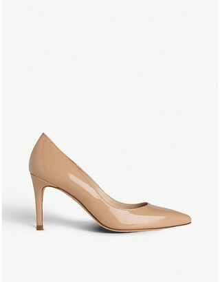 LK Bennett Floret pointed patent-leather courts