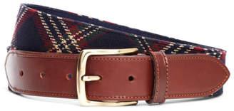Brooks Brothers Signature Tartan Wool Belt
