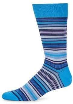 Bugatchi Multicolored Stripe Socks