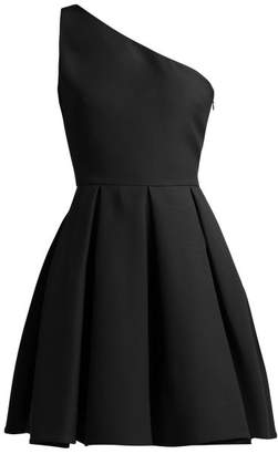 Valentino One Shoulder Skater Dress - Womens - Black