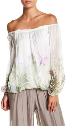 Luma Floral Print Long Sleeve Blouse