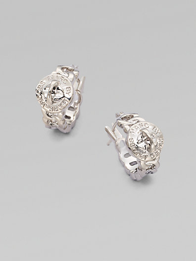 Marc by Marc Jacobs Structured Turn-Lock Hoop Earrings