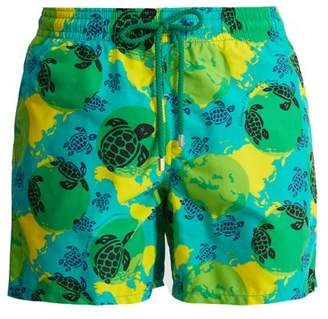 Vilebrequin Turtle Print Swim Shorts - Mens - Green Multi