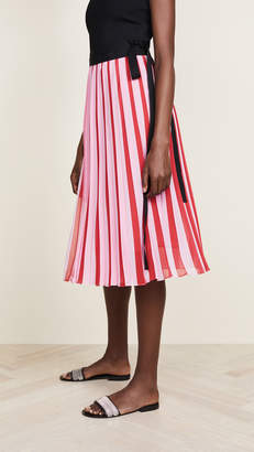 Tome Pleated Georgette Wrap Skirt