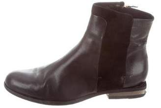 Maiyet Leather Round-Toe Ankle Boots