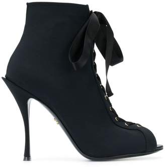 Dolce & Gabbana Bette open toe booties