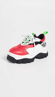 MSGM Tractor Block Lace Up Sneakers