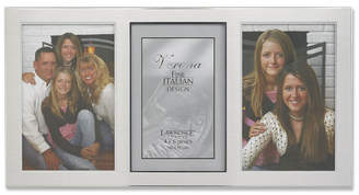 "Lawrence Frames Brushed Silver Metal and Shiny Metal Two Tone Triple Opening Panel - 4"" x 6"""