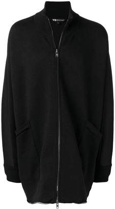 Y-3 Y3 Adidas x Yohji Yamamoto Knitted Stacked Logo parka