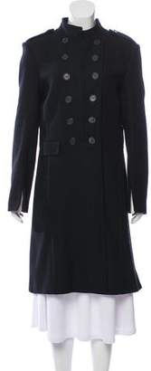 AllSaints Wool Stand Collar Coat