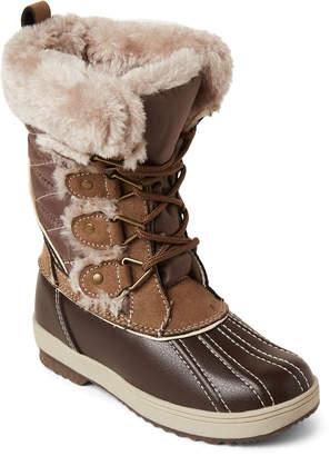 Khombu Toddler/Kids Girls) Coffee Reyes Faux Fur Snow Boots